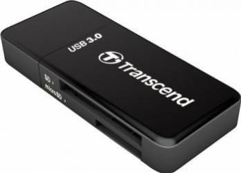 Card Reader Extern Transcend RDF5 USB 3.0 Negru Cititoare de Carduri