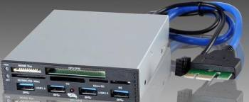 Card Reader I-Box PCI-EX la USB 3.0 Negru Cititoare de Carduri