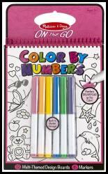 Carnet de colorat pe numere pentru fetite Melissa and Doug Rechizite