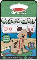 Carnet de colorat pentru calatorie Animale Litere si cuvinte Melissa and Doug
