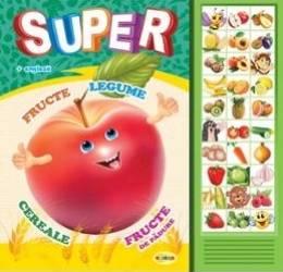 Carte cu sunete Super fructe legume... romana+engleza - Inesa Tautu