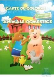 Carte de colorat cu abtibilduri - Animale domestice Carti