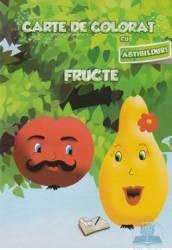 Carte de colorat cu abtibilduri - Fructe