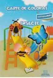 Carte de colorat cu abtibilduri - Insecte