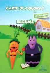 Carte de colorat cu abtibilduri - Legume