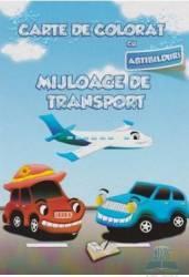 Carte de colorat cu abtibilduri - Mijloace de transport