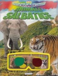 Cartea mea 3D de colorat Animale salbatice