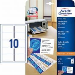 Carton pentru carti de vizita Avery Zweckform 85x54mm 185gmp Articole and accesorii birou