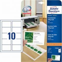 Carton pentru carti de vizita Avery Zweckform 85x54mm 200g/mp Articole and accesorii birou
