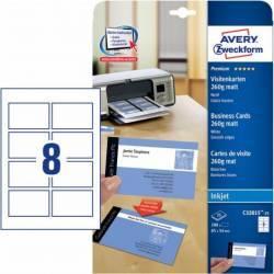 Carton pentru carti de vizita Avery Zweckform 85x54mm 250 g/mp 25 coli Articole and accesorii birou