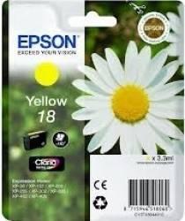 Cartus Epson 18 Galben 3.3 ml Cartuse Tonere Diverse