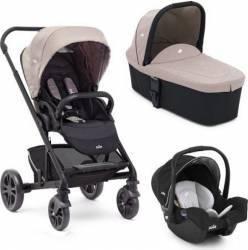 Carucior 3 in 1 Joie Chrome DLX Kaki recomandat copiilor intre 0 luni - 4 ani