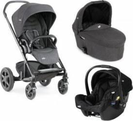 Carucior 3 in 1 Joie Chrome Stroller DLX Pavement Deluxe recomandat copiilor 0-15 kg si varsta 0-3 ani
