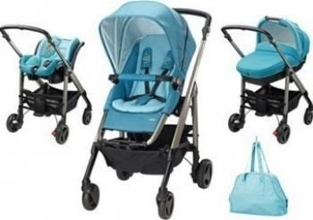 Carucior copii Bebe Confort Stroller Trio Loola Excel 3 in 1 Mosaic Blue Carucioare copii