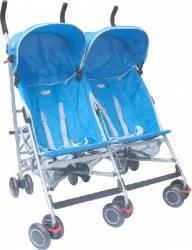 Carucior gemeni Primii Pasi C-110 Umbrela Albastru Resigilat carucioare copii