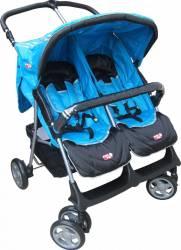 Carucior pentru gemeni Primii Pasi H273T Albastru Carucioare copii