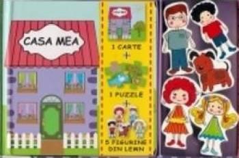 Casa Mea - 1 Carte + 1 Puzzle + 5 Figurine Din Lem