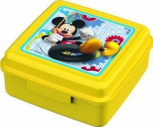 Caserola cu capac pentru gustari BBS Mickey Mouse din plastic Cani, pahare, accesorii masa