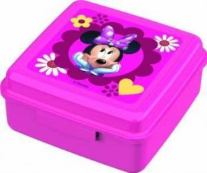 Caserola cu capac pentru gustari BBS Minnie Mouse din plastic Cani, pahare, accesorii masa