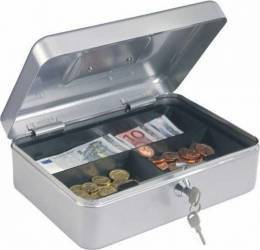 Caseta bani TRAUN 3 Argintiu Seifuri Lacate Feronerie