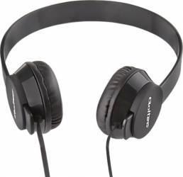Casti Audio cu Microfon Qoltec Negru 50811 Casti telefoane mobile