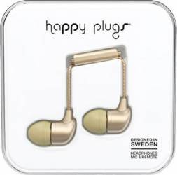 Casti Audio Happy Plugs Deluxe Edition In Ear Champagne 7832 Casti telefoane mobile
