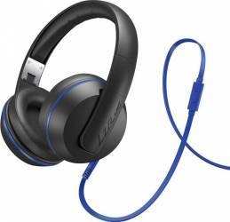 Casti Audio Magnat LZR 580 Negru cu Albastru Casti