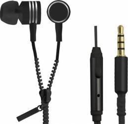 Casti Cu Microfon Esperanza EH161K Zipper Negre Casti telefoane mobile