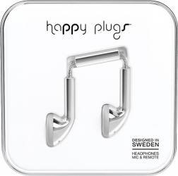Casti Cu Microfon Fir Deluxe Happy Plugs 7735 Argintiu