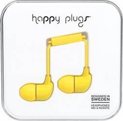 Casti Cu Microfon Happy Plugs 7721 Galben