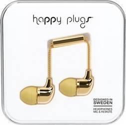 Casti Cu Microfon Happy Plugs 7728 Auriu