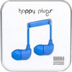 Casti Cu Microfon Happy Plugs 7730 Albastru