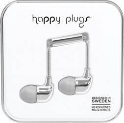 Casti Cu Microfon Happy Plugs 7736 Argintiu