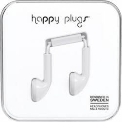 Casti In Ear cu Microfon  Happy Plugs Albe