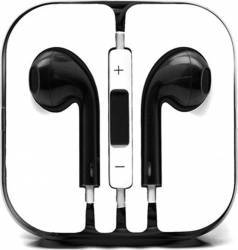 Casti In-ear Cu Microfon Universale Iphone Si Samsung Negru Casti telefoane mobile