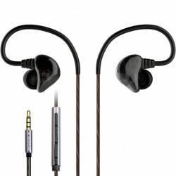 Casti In-Ear Dual Driver Avantree D18 Heavy Bass casti sport cu izolare fonica si microfon Casti telefoane mobile