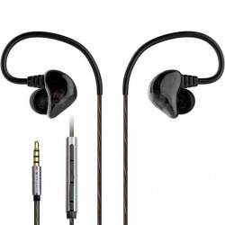 Casti In-Ear Dual Driver Avantree D18 Heavy Bass casti sport cu izolare fonica si microfon