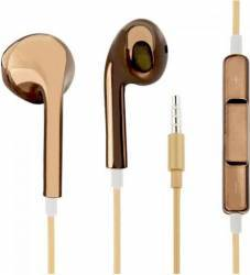 Casti OEM in-ear cu microfon universale cu aspect cromat, maro Casti telefoane mobile