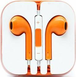 Casti OEM in-ear cu microfon universale, portocaliu Casti telefoane mobile