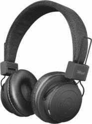 Casti Stereo Bluetooth Trust Leva Negru Casti Bluetooth