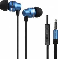 Casti Woozik 3.5 mm Precise Bass B800 Blue Casti telefoane mobile