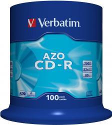 CD-R 52X 700MB Verbatim AZO Crystal 100 buc CD-uri si DVD-uri