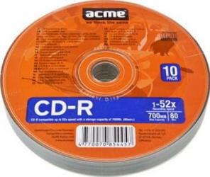 CD-R 700MB 52X Acme 10 buc set CD-uri si DVD-uri