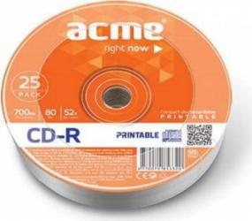 CD-R 700MB 52x Acme 25 buc CD-uri si DVD-uri