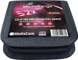 CD-R 700MB 52x MediaRange 25 buc set MediaCase 25 MR210