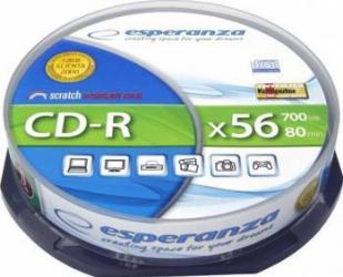 CD-R Esperanza 700MB 52x 10buc CD-uri si DVD-uri