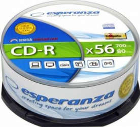 CD-R Esperanza 700MB 52x 25buc CD-uri si DVD-uri