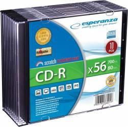 CD-R Esperanza 700MB 56x 10buc Jewel Case CD-uri si DVD-uri