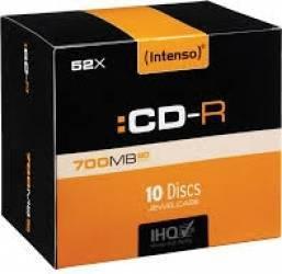 CD-R Intenso 700 MB 10 Slim Case CD-uri si DVD-uri