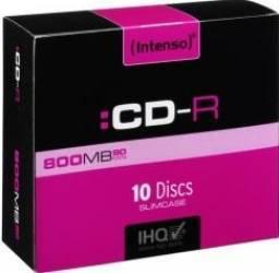 CD-R Intenso 800 MB 10buc Slim Case CD-uri si DVD-uri